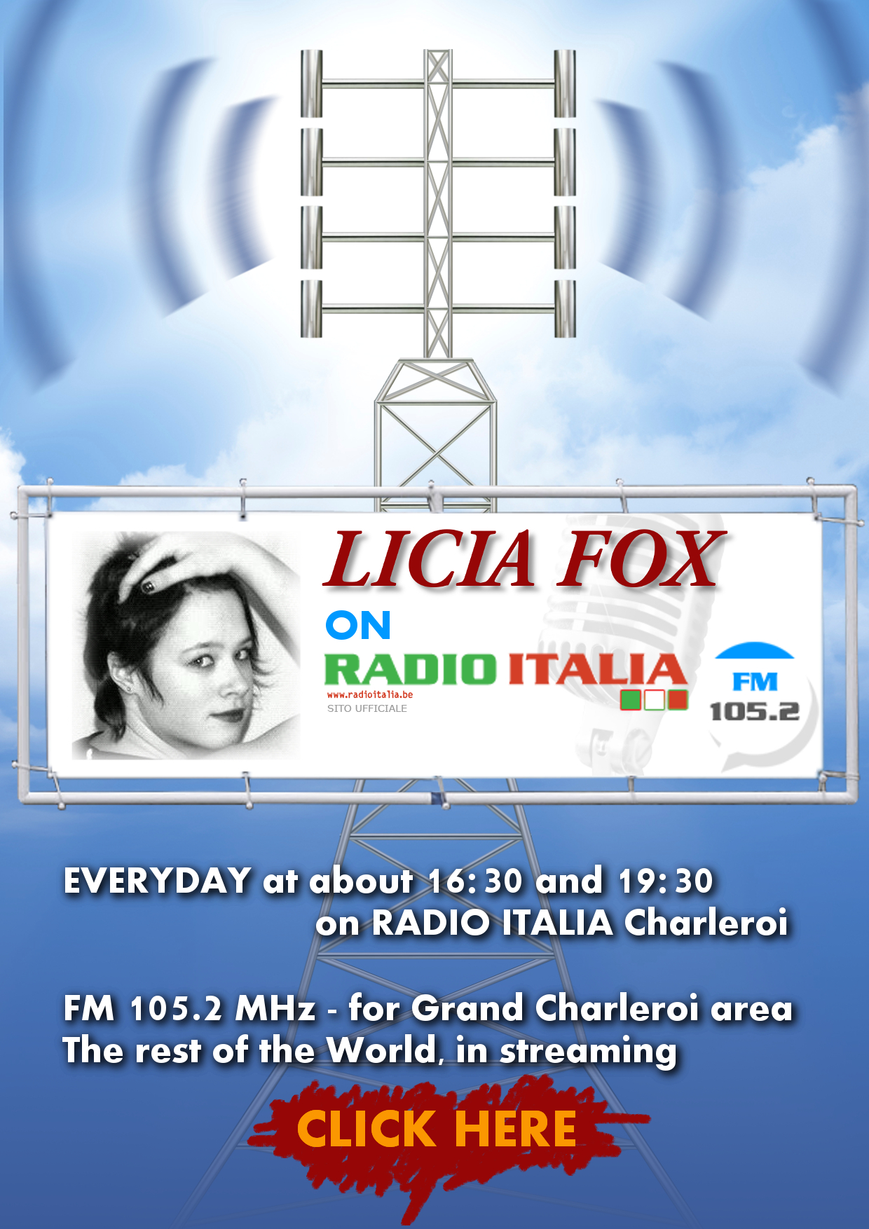 POster of Licia Fox on RADIO ITALIA Charl.