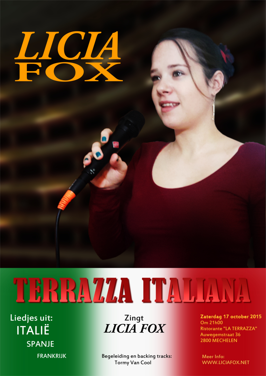 POster of TERRAZZA ITALIANA sings: Licia Fox